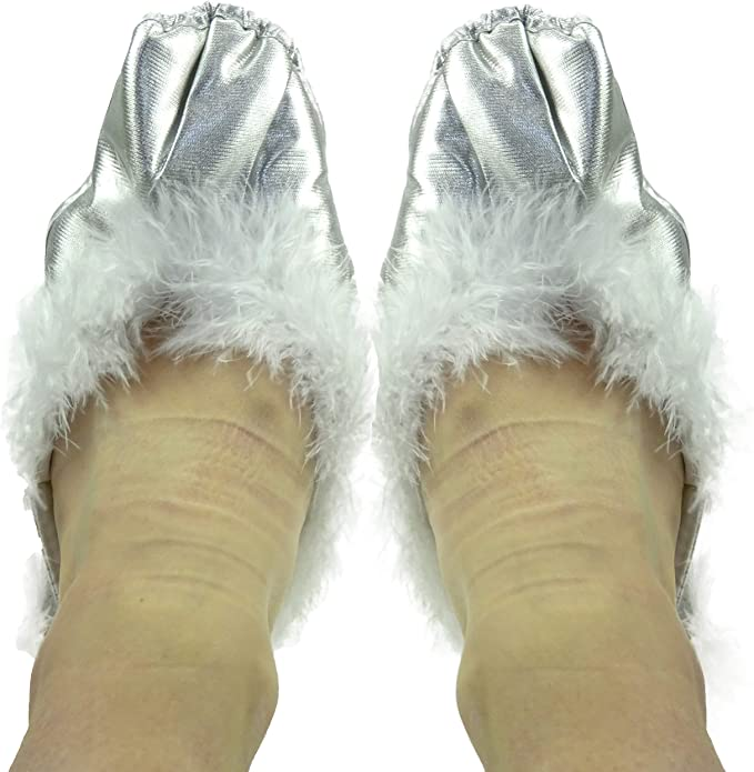 Silver Shoe Covers - 30cm From Front To