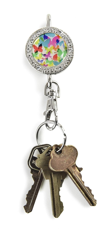Alexx Finders Key Purse 01B-007 Butterflies Bling Finders Key Purse