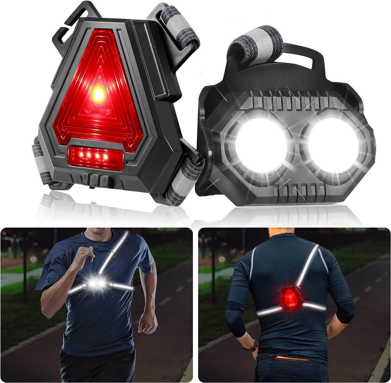 LED Running Light Small LED Light Black for Outdoor Exploration at Night