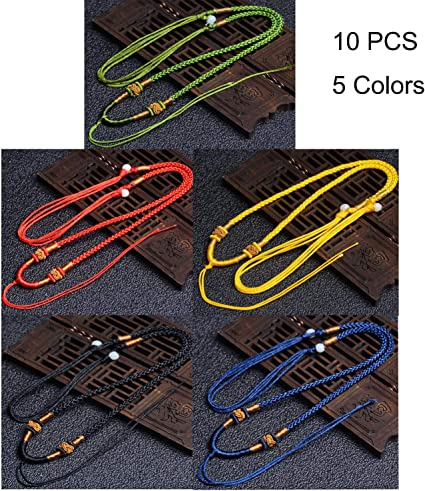 5//10pcs Handmade Braided Line Rope String Cord Jade Beads for Pendant Necklace