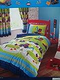 Diggers, Tractors & Trucks Junior / Cot Bed Duvet Cover Set Including Pillowcase - 120cm x 150cm by Kids Club