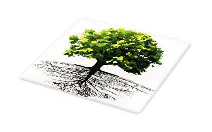 87f03f290bce4 Amazon.com: Lunarable Tree Cutting Board, Majestic Lonely Ancient ...