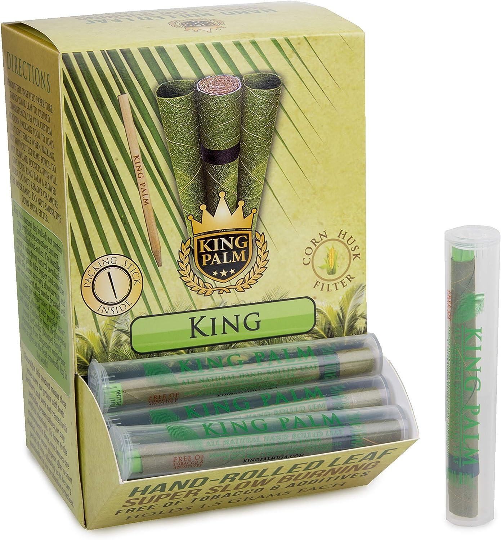 1 unit/é individuelle - roul/ées /à la Main Palm Leaf Wrap Rolls Tube preroll 1 Roll//Tube King Palms Roi Palm King Size