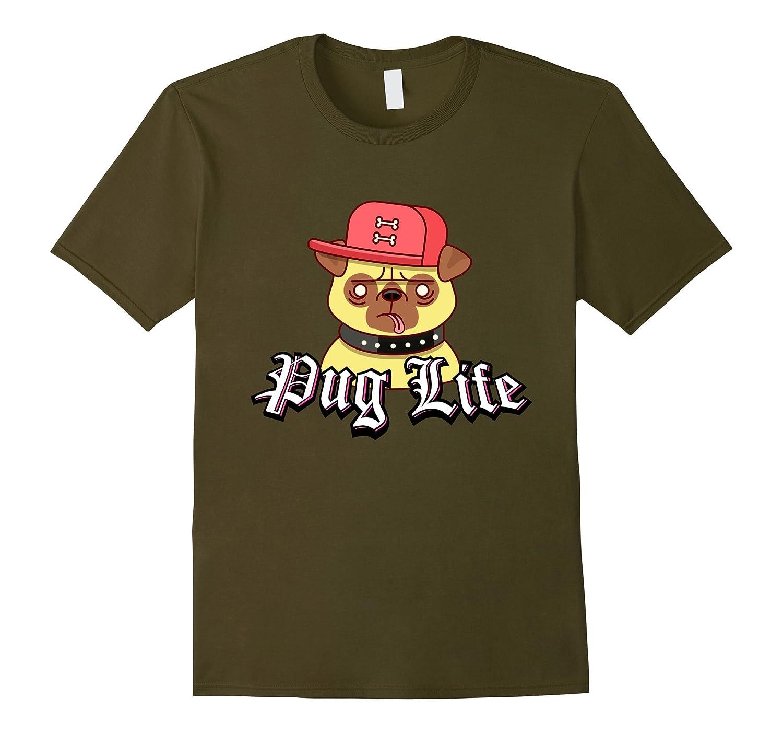 Pug Life Funny Hipster Dog T-Shirt-CD