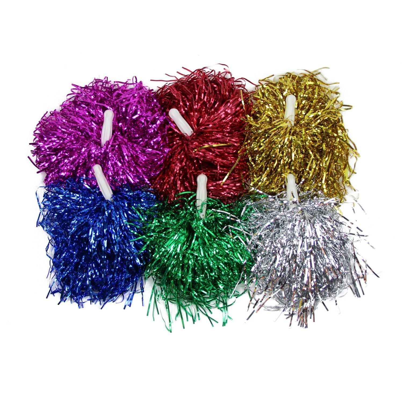 Cheerleader Pom Poms Pompoms Cheerleader Cheerleading Cheer Pom Poms Party Costume Accessory Ball Dance Sports
