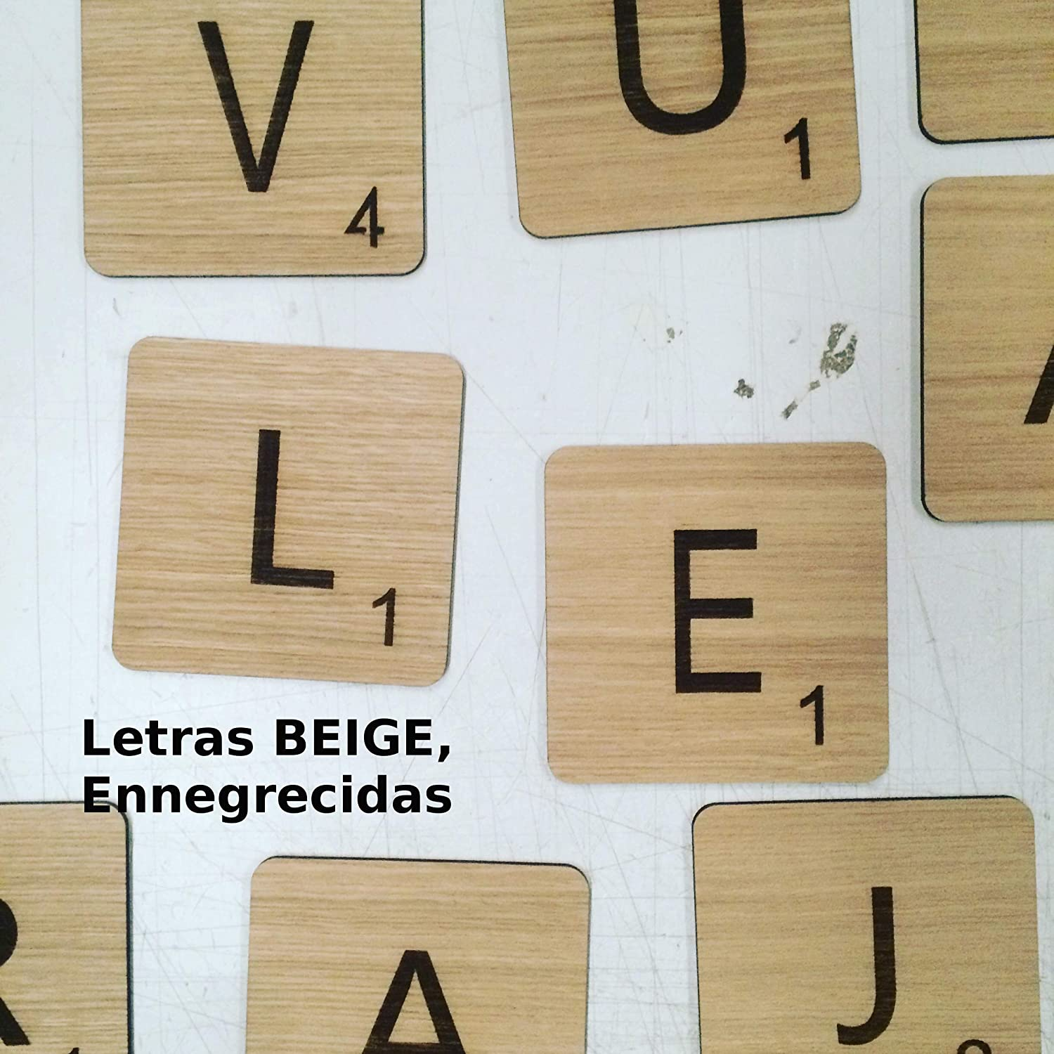 Letras Scrabble personalizadas de madera para decorar una pared: Amazon.es: Handmade