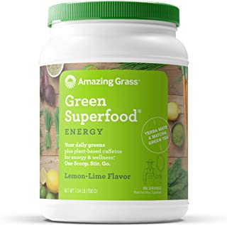 product image for Amazing Grass Green Superfood Energy: Super Greens Powder & Plant Based Caffeine with Green Tea and Flax Seed, Lemon Lime, 100 Servings