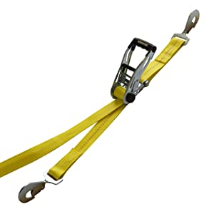 SmartStraps 8-Foot Ratchet Straps with Snap Hooks 10,000 lbs Break Strength – 3,333 lb Safe Work Load– Commercial Duty Straps for the Heaviest Loads – Haul Large Equipment Including Vehicles