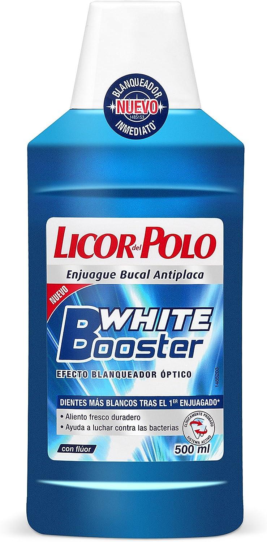 Licor del polo - Enjuague bucal white booster 500 ml: Amazon.es ...