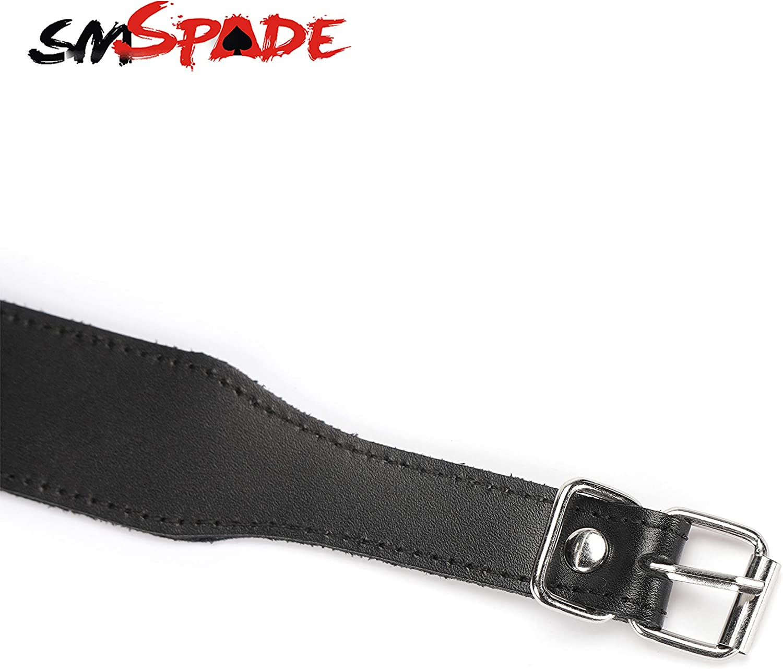 Pour homme et femme Noir Collier ras du cou en cuir v/éritable pour femme SMspade