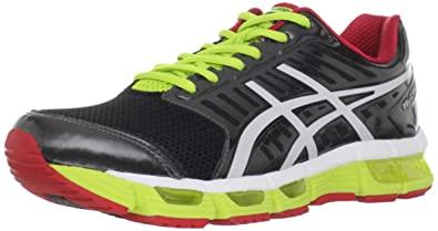 ASICS Men's Cirrus33 Running Shoe,Black/White/Red,9 ...