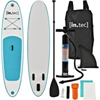 [in.tec] SUP Paddle Board Surfboard Stand-Up Board Inflatable Board 305 x 71 x 10cm Turquoise