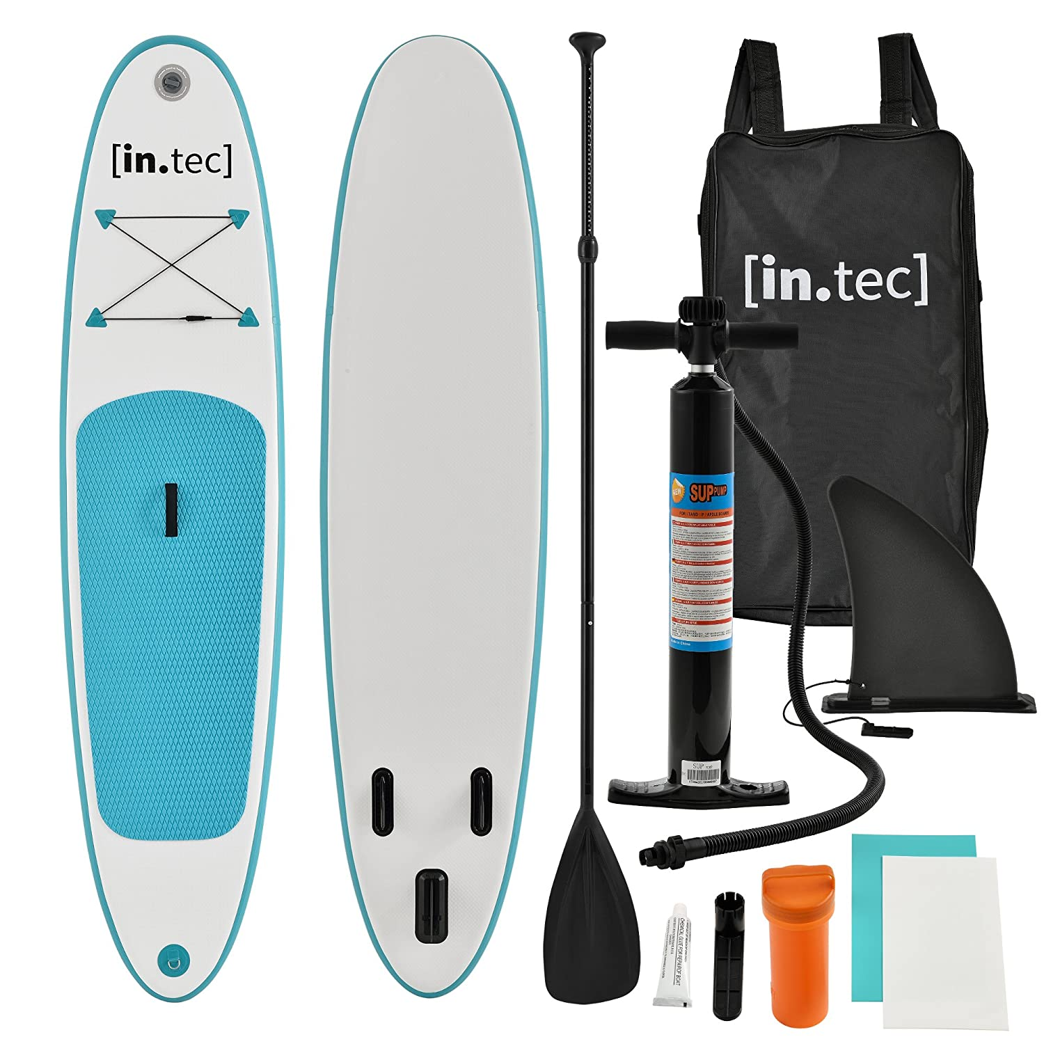 Tec] Tabla de Surf Hinchable remar de pie Paddle Board 305 x 71 x 10cm Tabla de Sup de Aluminio con Remo y Bomba - Turquesa: Amazon.es: Deportes y aire ...