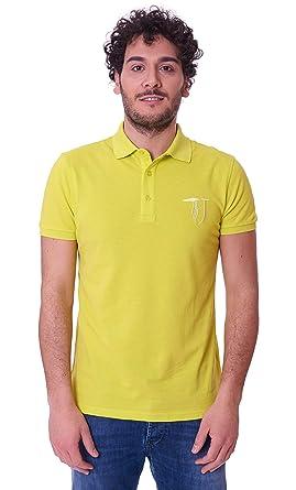 Trussardi Jeans 52T00118-1T000784-Polo Hombre Amarillo XS: Amazon ...