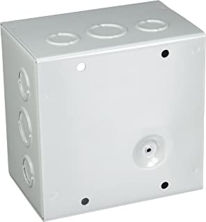 Gray Hoffman ASE12X10X4 Pull Box Screw Cover with Knockouts Steel 12 x 10 x 4