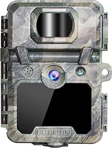 OUDMON Trail Game Camera 30MP 1080p 30fps FHD Waterproof IP67 Hunting Scouting Cam for Wildlife Monitoring with Night Vision Motion Activated No Glow IR LEDs 2.4 LCD