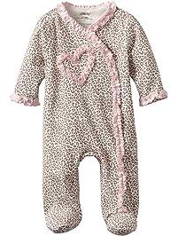 Little Me Baby-Girls Newborn Leopard Footie