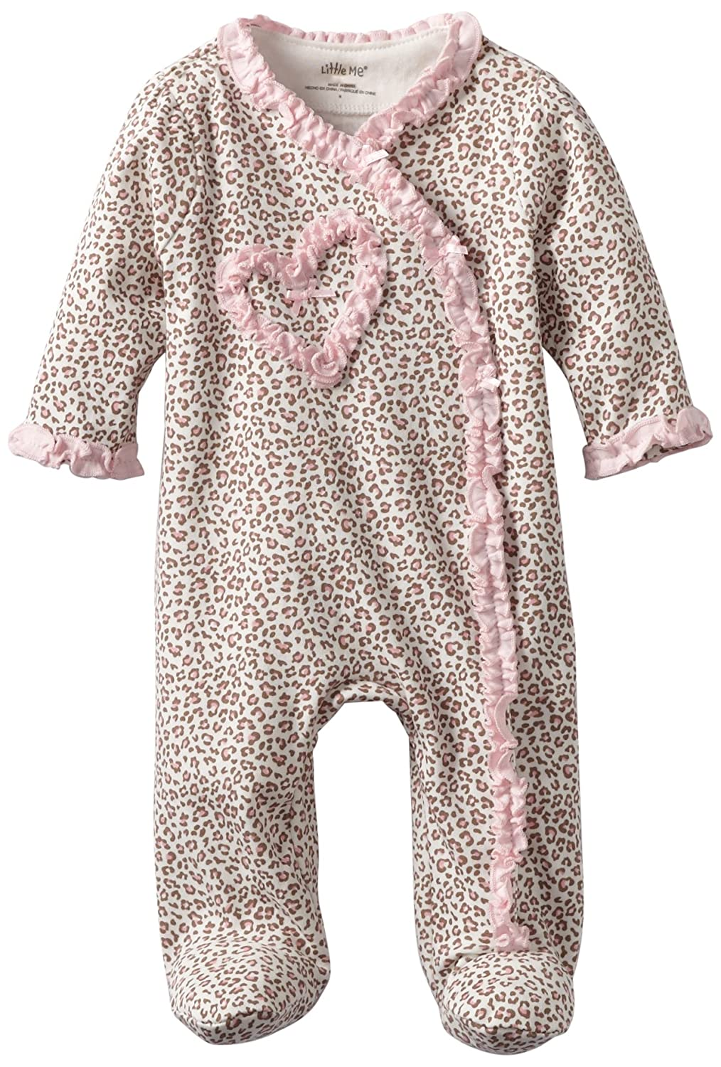 Little Me Baby-Girls Newborn Leopard Footie