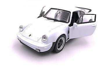 Producto de licencia de automóvil modelo Welly Porsche 911 Turbo 930 1975 1: 34-1: 39 blanco: Amazon.es: Coche y moto
