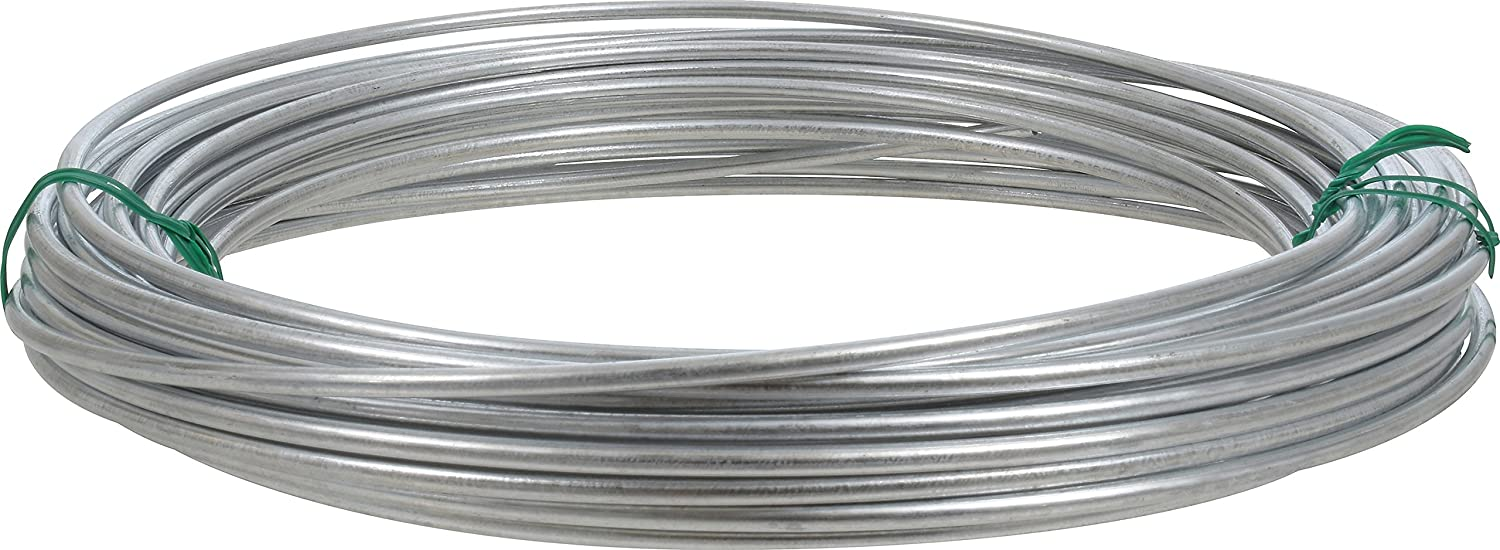 Amazon.com: Hillman 122062 Galvanized Solid Wire 9 Gauge, 50 foot ...