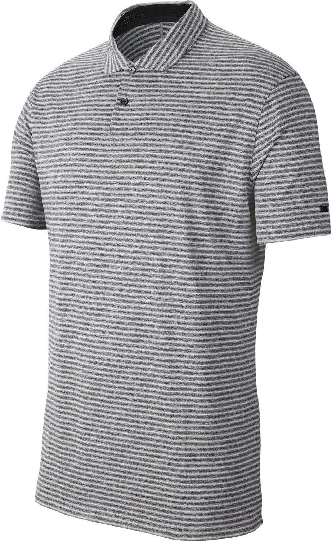 ナイキ タイガーウッズモデル Dri-FIT ヴェイパー ストライプ 半袖ポロシャツ