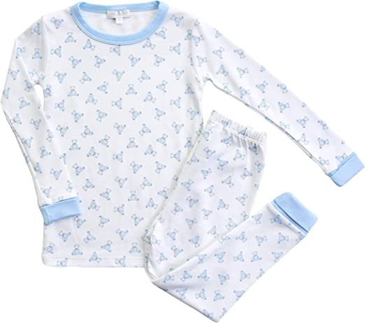 Magnolia Baby Baby Boy Teddy Zipped Pajamas Blue