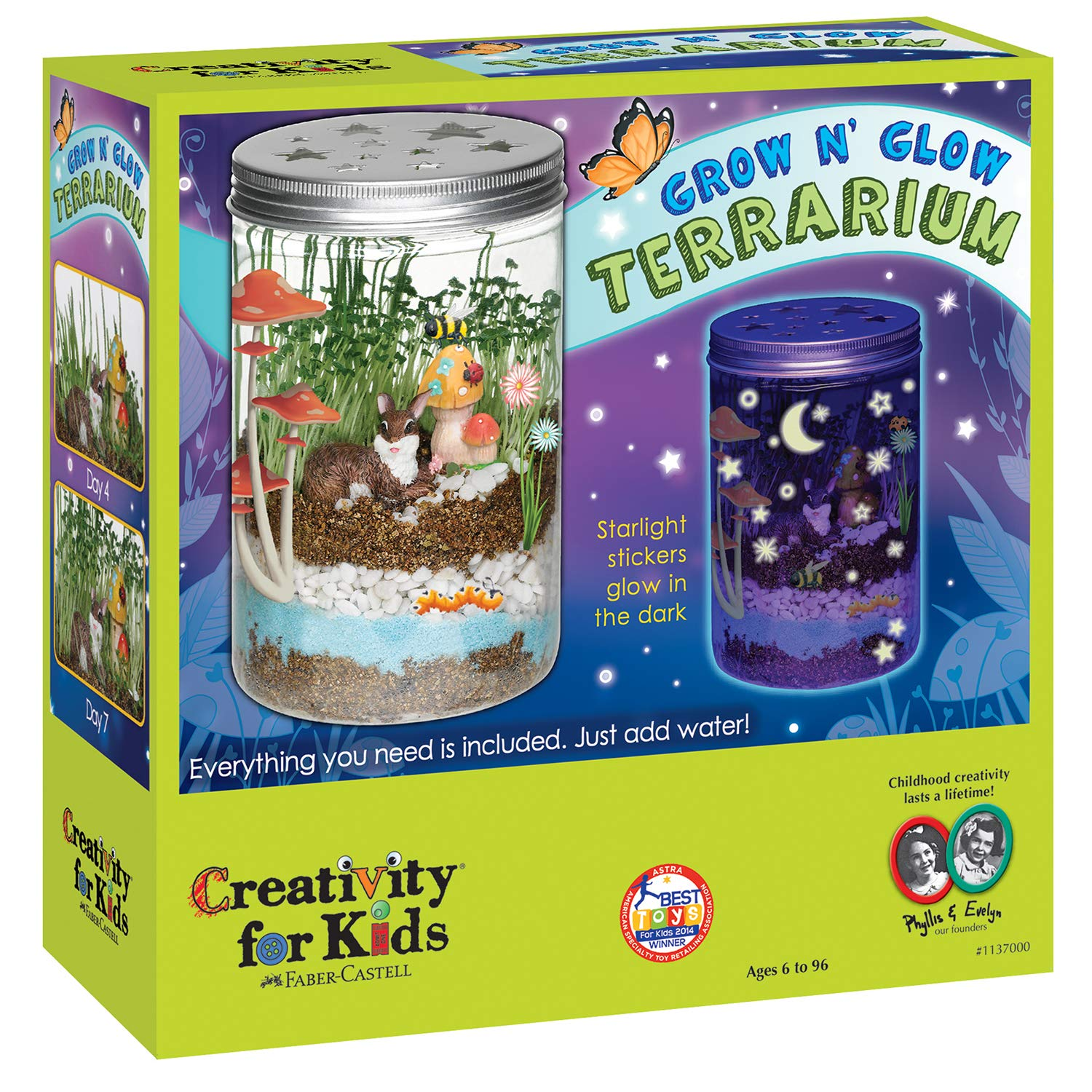 Creativity For Kids Grow 'N Glow Terrarium Science Kits for Kids - Create Your Own Mini Ecosystem, Educational Toys by Creativity for Kids