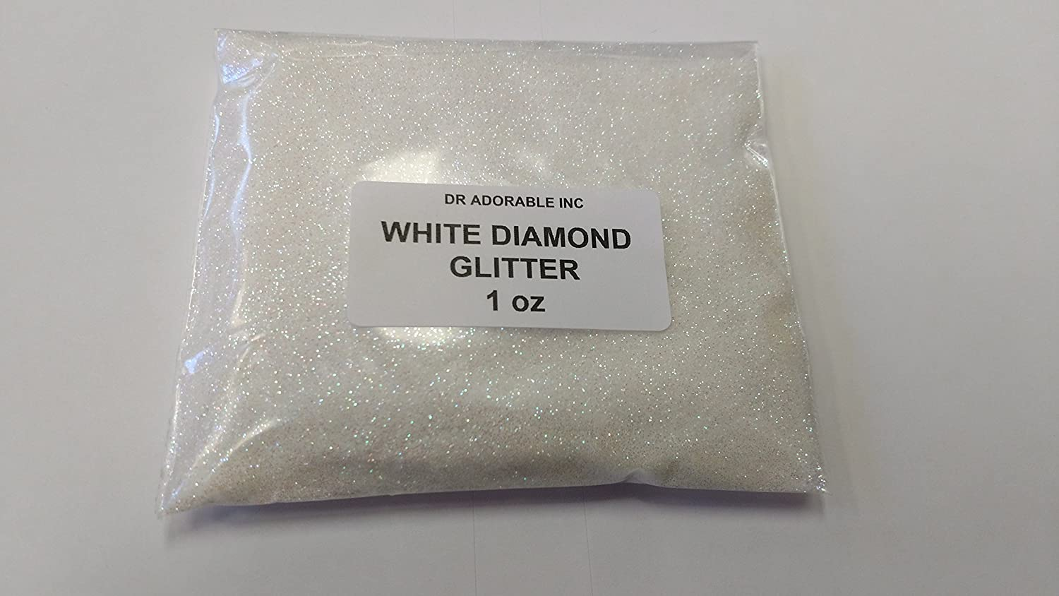 1 OZ WHITE DIAMOND GLITTER FOR SOAP COSMETIC BY DR.ADORABLE Dr Adorable Inc