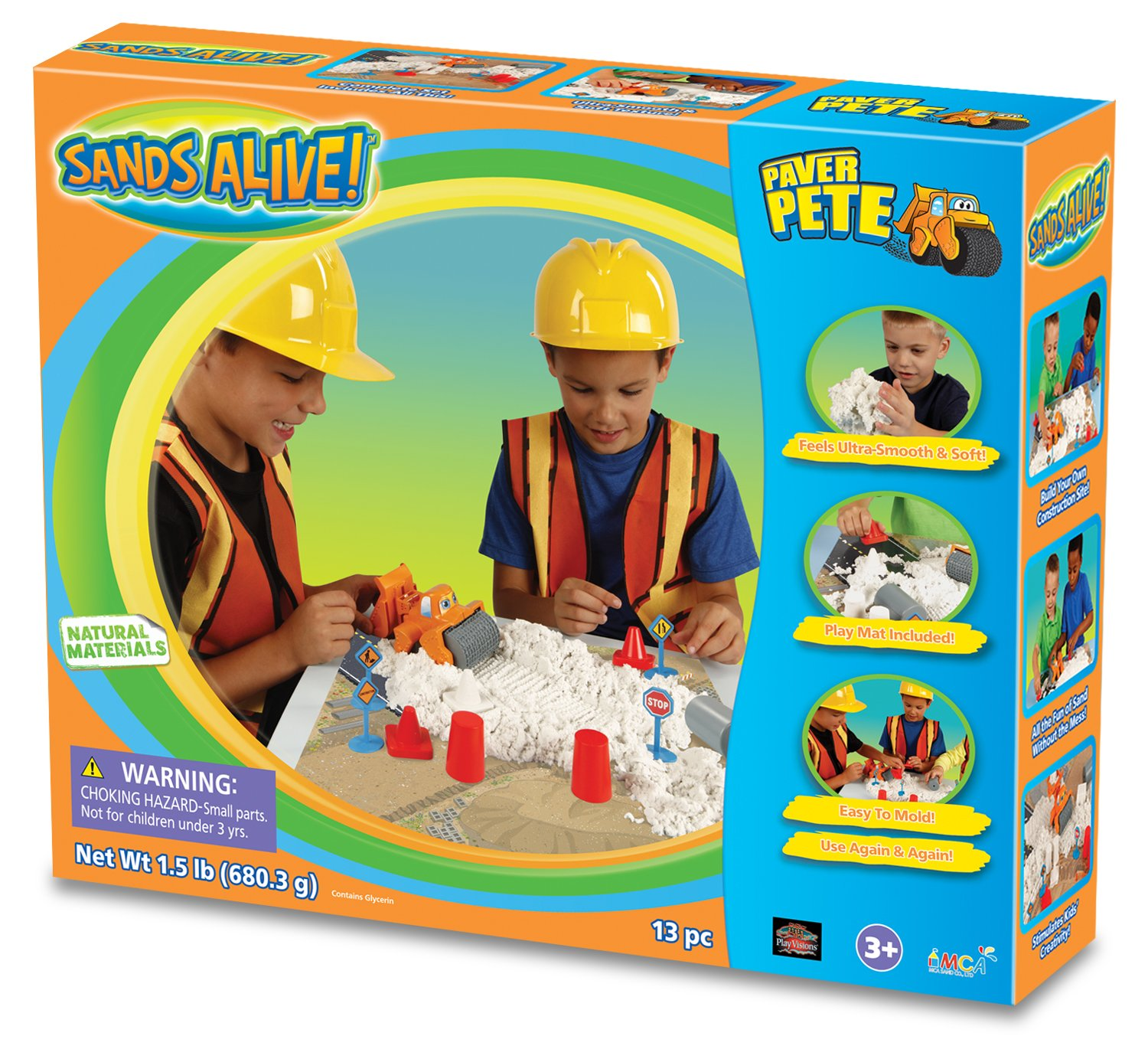 Play Visions Sands Alive! Paver Pete Construction Playset