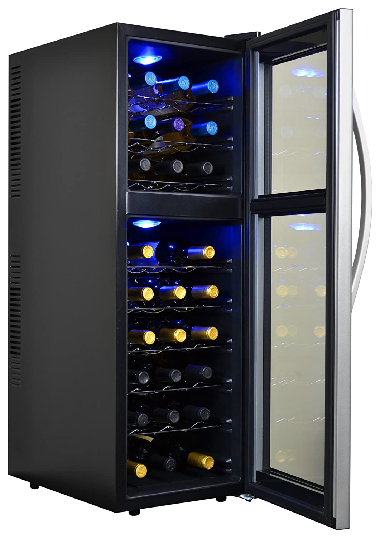 amazoncom avalon bay abwine27ds 27 bottle dual zone wine cooler appliances - Dual Zone Wine Cooler