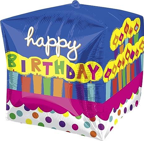 Amazon.com: Anagram globo de torta de cumpleaños cubez ...