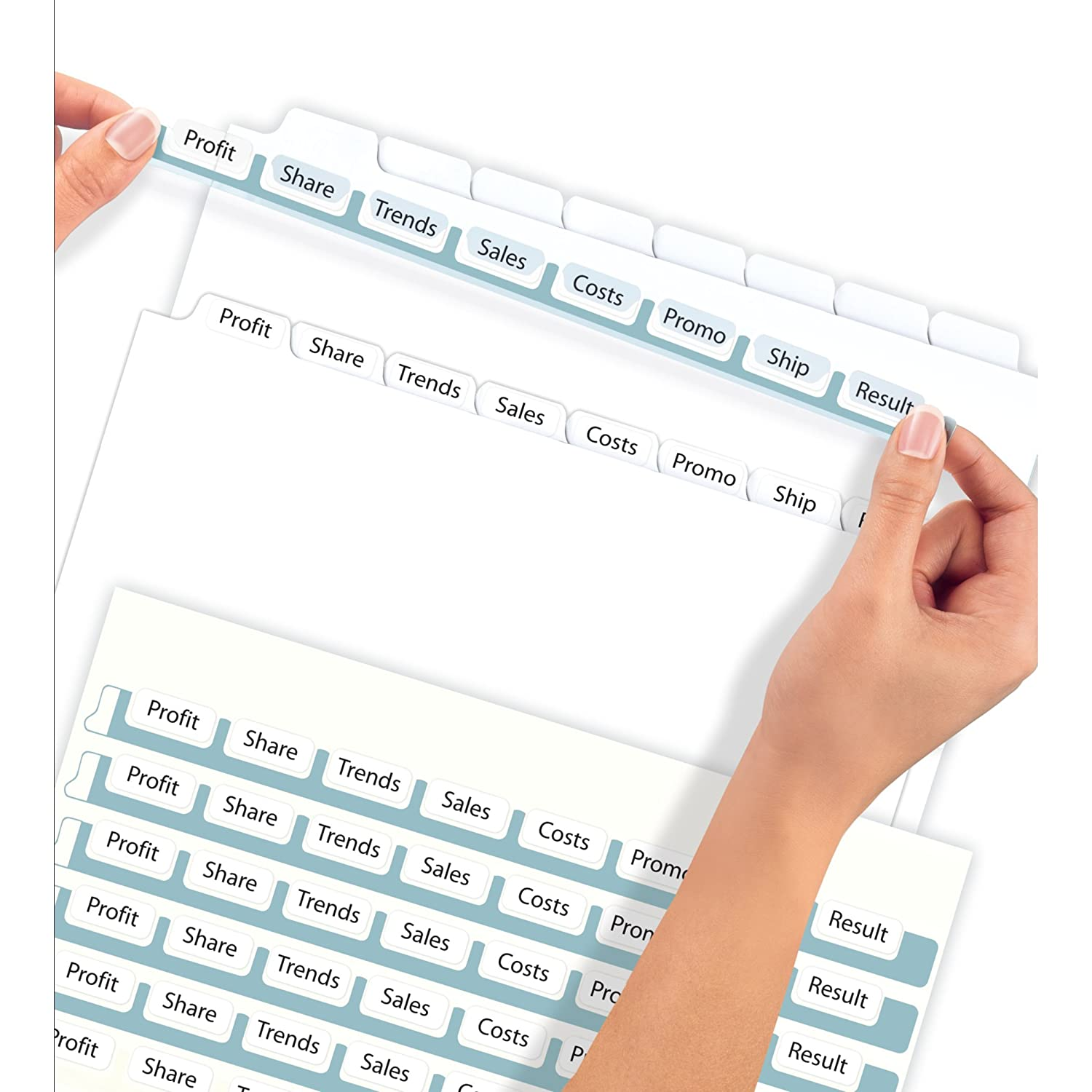 Amazoncom Avery Index Maker Clear Label Dividers 85 X 11 Inch 8 Tab White 50