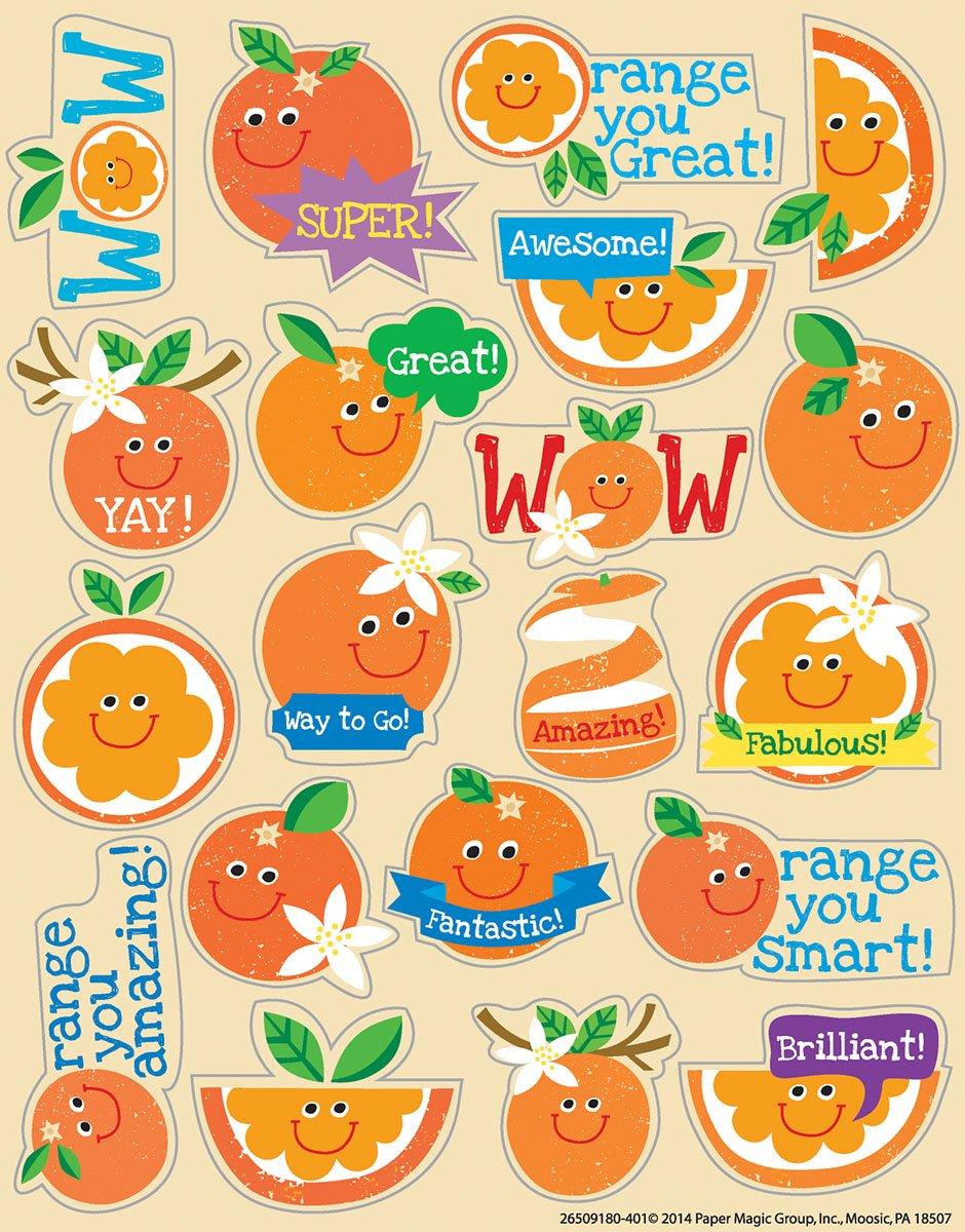 Eureka Orange Stickers, Scented (650918)