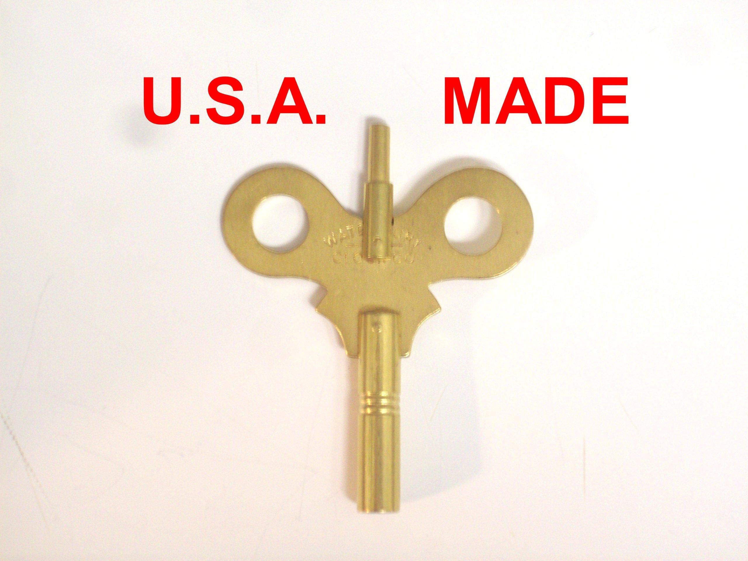 Waterbury Trademark Clock Winding Key Double End #6/0000