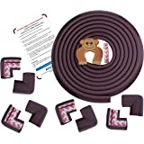Amazara Baby Proofing Edge and Corner Guards | Extra Long 16. 4Ft Edge + 8 Pre-Taped Corner Protectors | Child Safety Furniture Cushions | Brown
