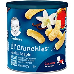 Gerber Lil Crunchies, Vanilla Maple, 1.48 Ounce Canister (Pack of 6)