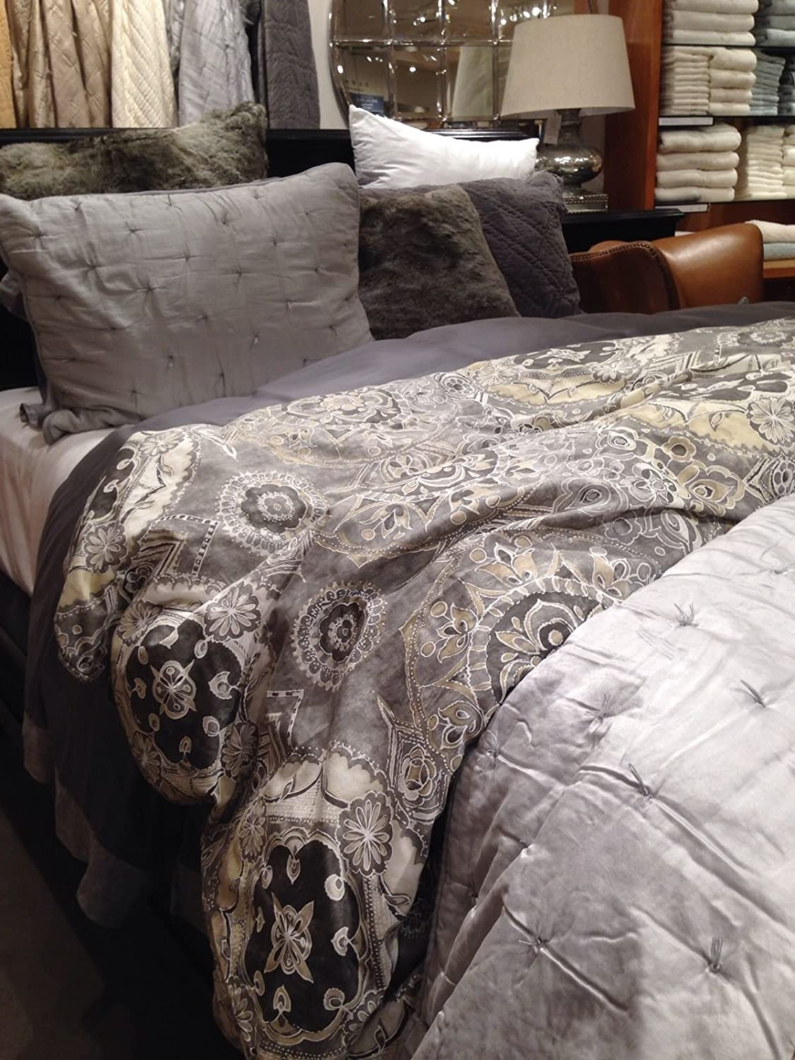 New Pottery Barn Jacquelyn King Cal King Duvet Cover Amp 2