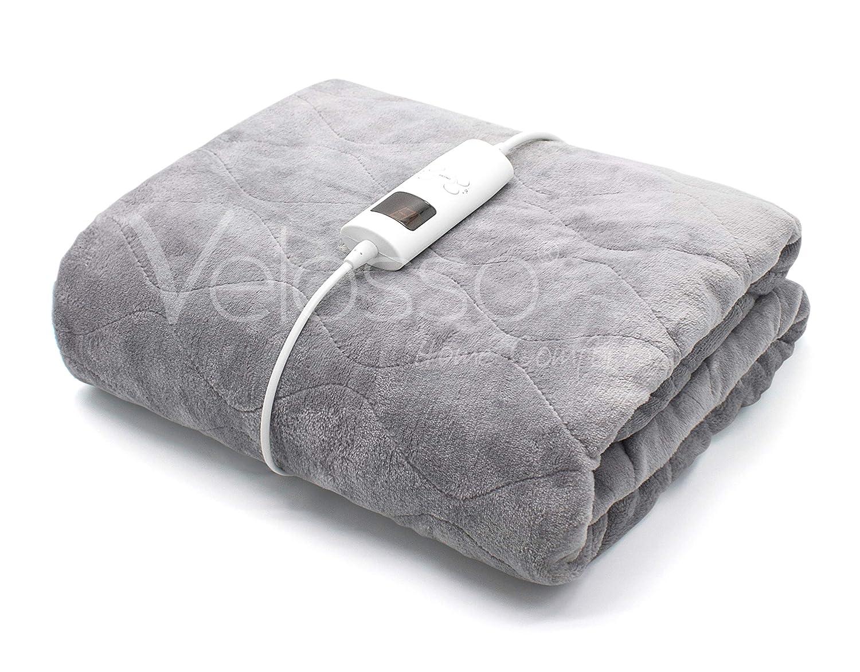 Velosso Manta eléctrica para sofá con Controlador de Calor múltiple - 6 ajustes de Calor más protección contra sobrecalentamiento automático: Amazon.es: Hogar