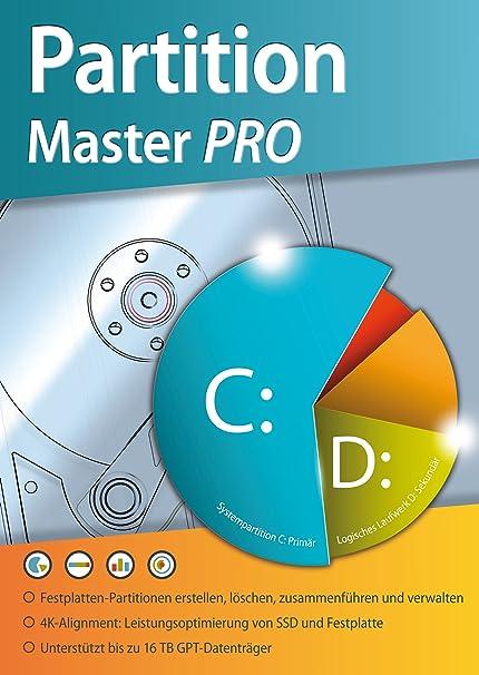 Partition Master Pro Festplatten Partition Loschen Bearbeiten Verwalten Fur Windows 10 8 7 Vista 32 Und 64 Bit