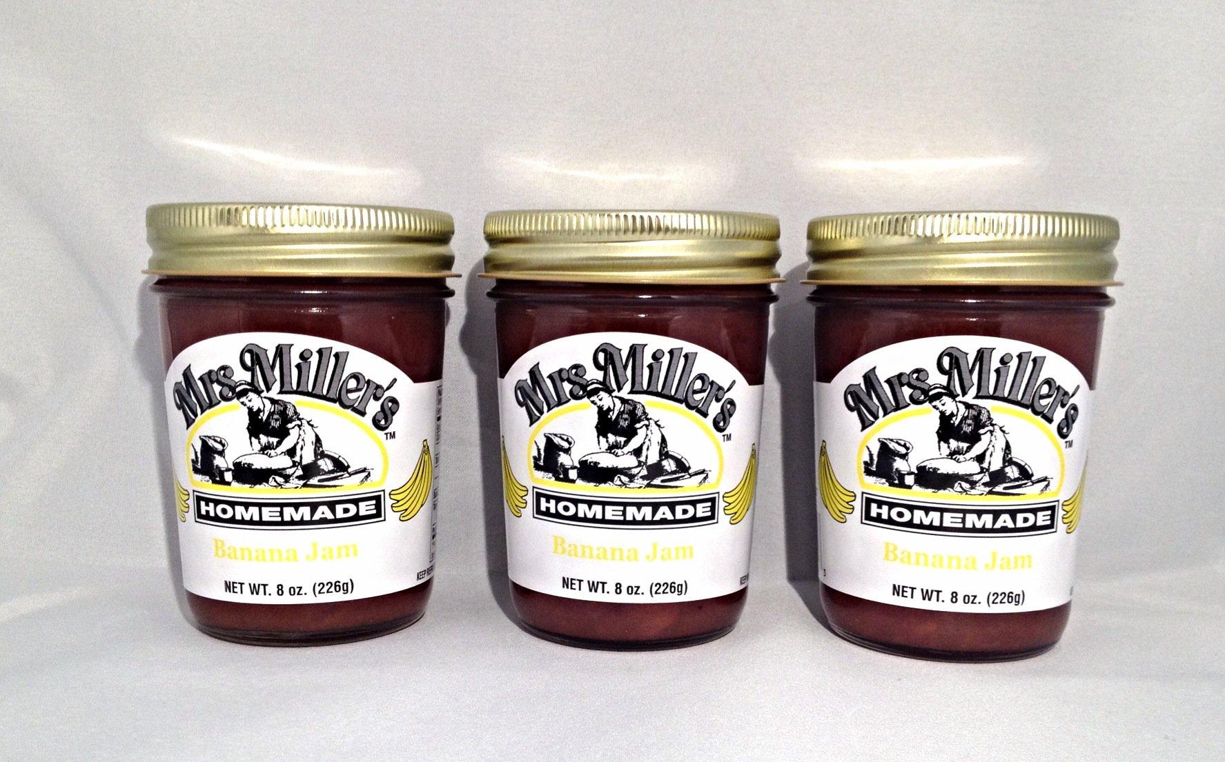 Mrs. Miller's Amish Homemade Banana Jam 8 Oz. - Pack of 3 (Boxed)