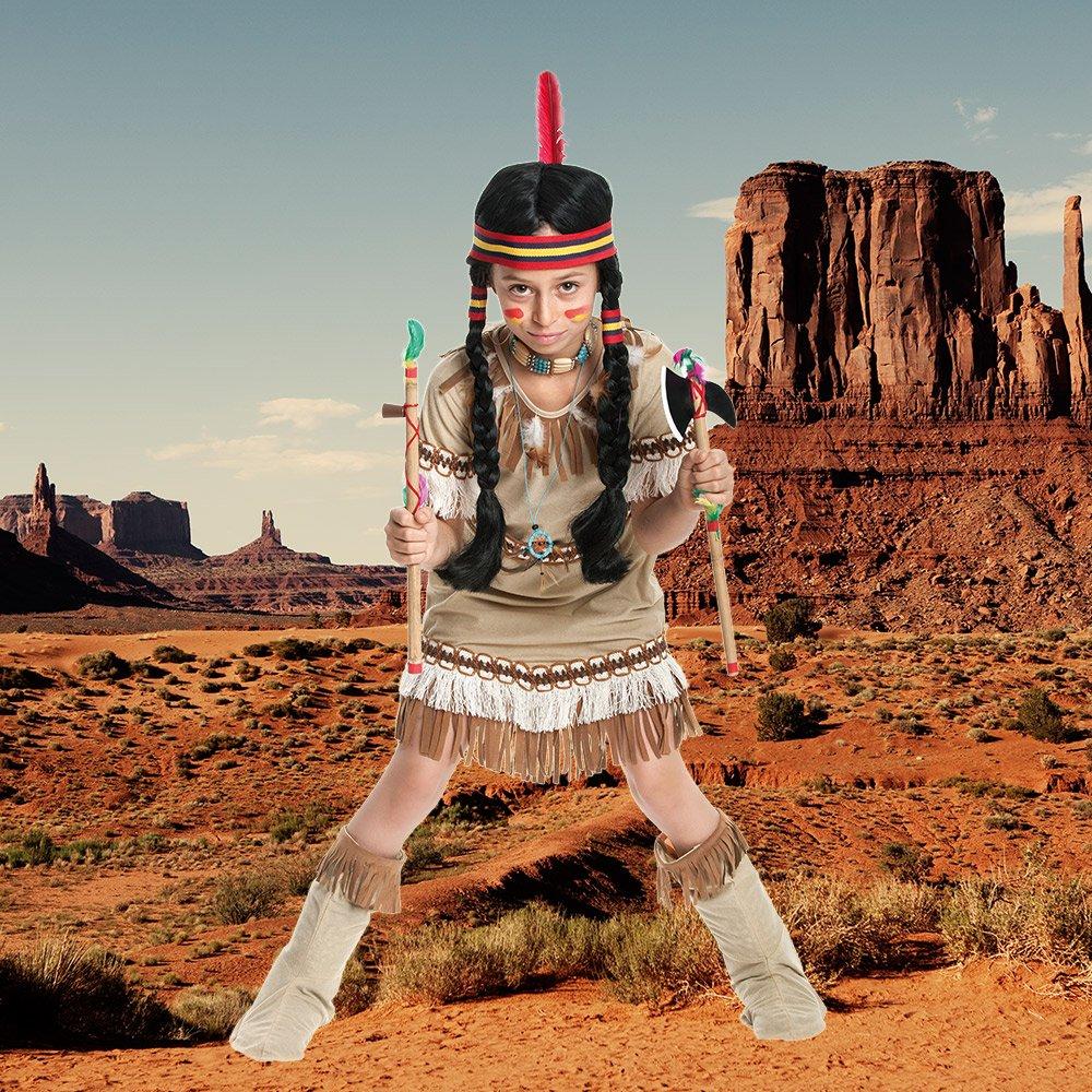 Schöne nackte Mädchen Indianer