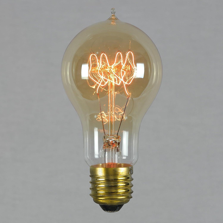 Vintage Retro Edison Glühbirne 60W E27 – Vollständig Dimmbar Quad ...