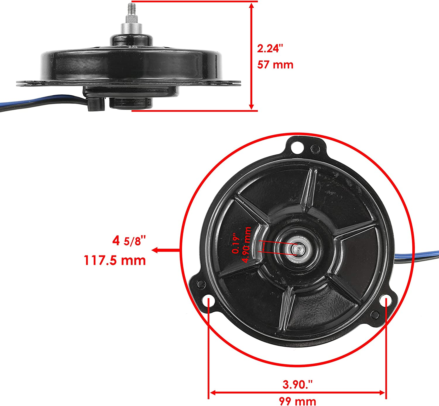 Caltric compatible with Radiator Cooling Fan Motor Honda SXS700M4 SXS700M4D Pioneer 700-4 2014-2020