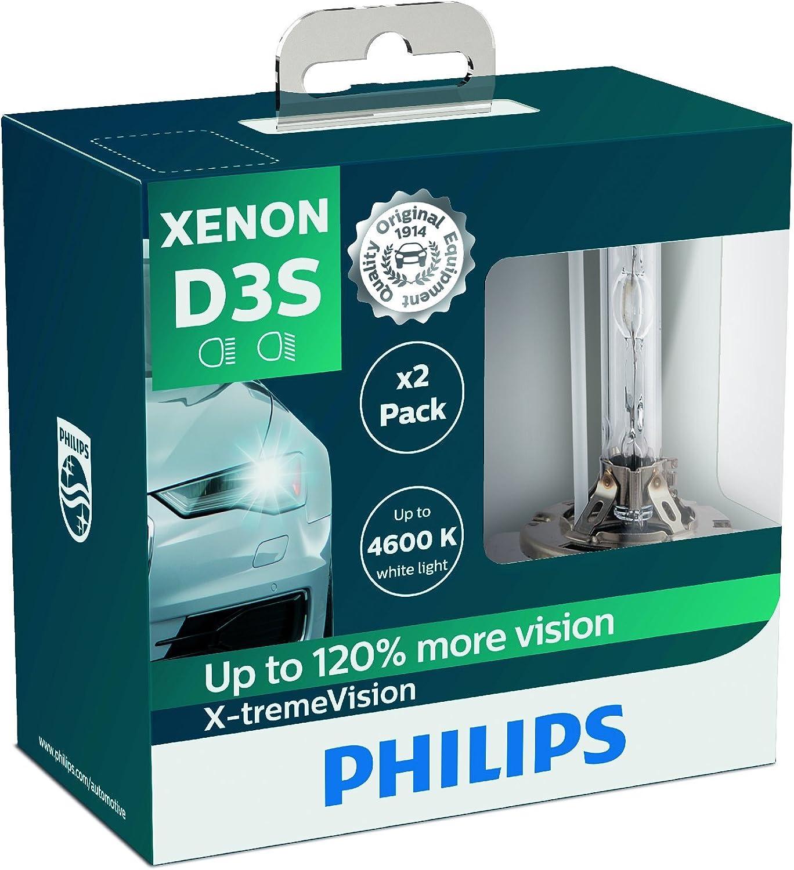 Philips d3s WhiteVision gen2 120/% Plus De Lumière Xénon Phares Lampe