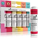 ArtNaturals Natural Lip Balm Beeswax - (6 x .15 Oz / 4.25g) - Gift Set of Assorted Flavors - Chapstick for Dry, Chapped…