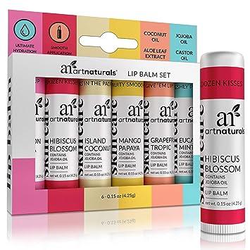 5c7be8523f6 Amazon.com : ArtNaturals Natural Lip Balm Beeswax - (6 x .15 Oz ...