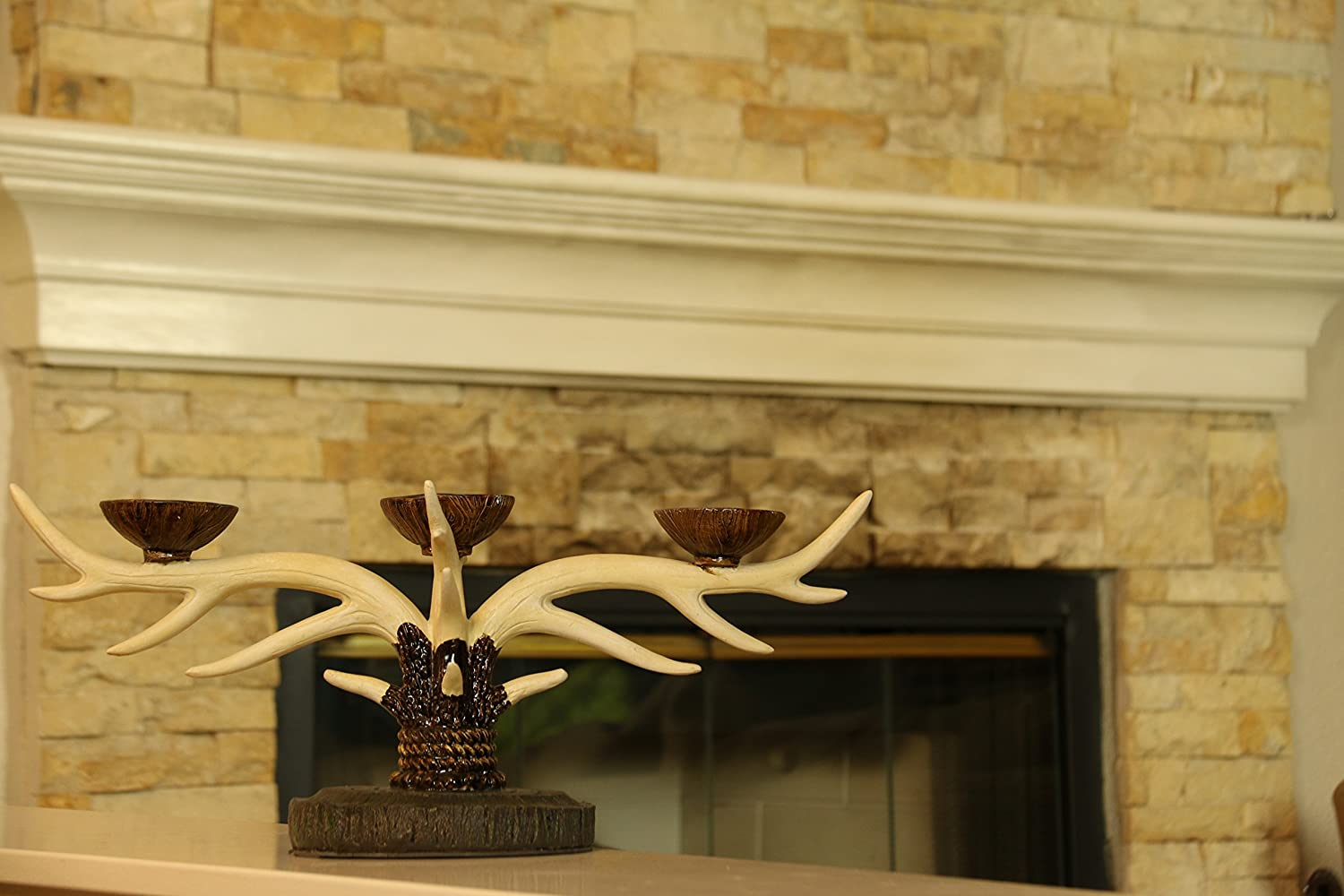 Amazon.com: Oh! Trendy™ Deer Antlers Vintage Candle Holder ...