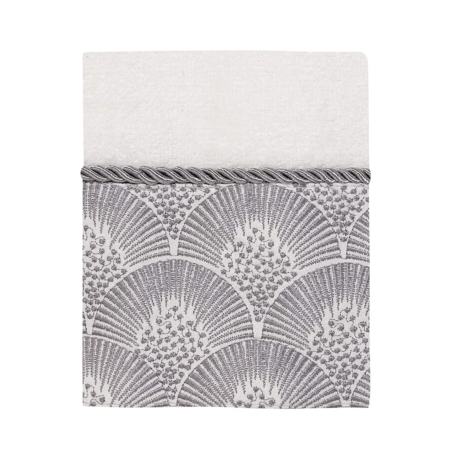 Avanti Linens Deco Shell Washcloth One Size White