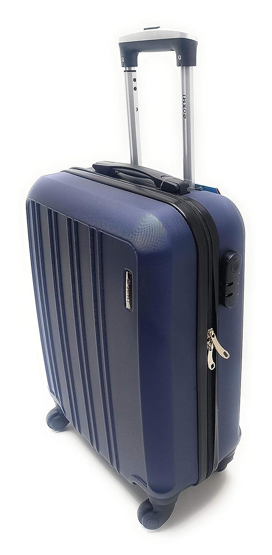 Trolley Ryanair Priority idoneo cm.55x40x20 ABS rigido 4 Ruote Bagaglio a mano Low cost BLU