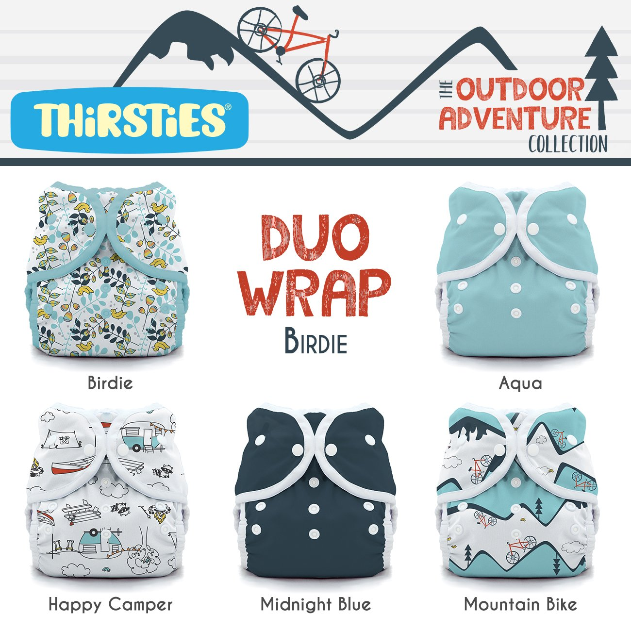 Thirsties Package, Snap Duo Wrap, Sweet Dreams Size 2 TDWPSSD2